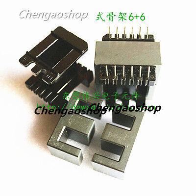 1set Ee42 66pins Ferrite Cores Bobbintransformer Coreinductor Coil Q1326 Zx