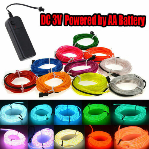 Party Decor Battery Operated EL Wire Neon Glow LED Car Light