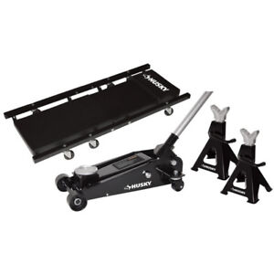 3 Ton Trolley Jack with Stands and Creeper -HUSKY