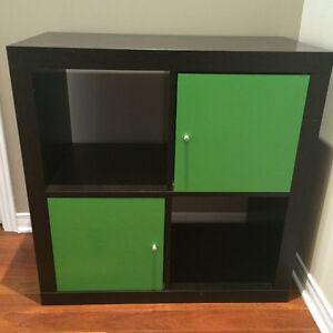 Ikea Black/Brown 4 Cubbie Kallax/Expedit Storage Unit