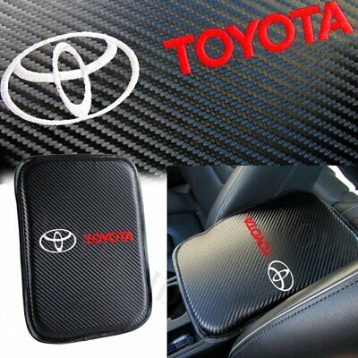 For TOYOTA White Embroidery Car Center Console Armrest Cushion Mat Pad Cover X1