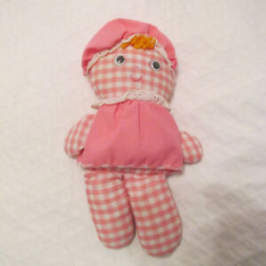 1975 FISHER PRICE LOLLY POUPEE #420 ROSE ET BLANCHE VINTAGE