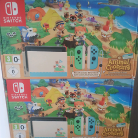 Nintendo Switch Console Animal Crossing Limited Edition