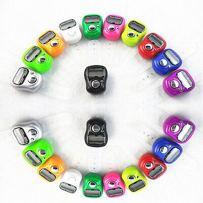 1 Mini 5 Digit Lcd Electronic Digital Golf Finger Hand Held Ring Tally Counter