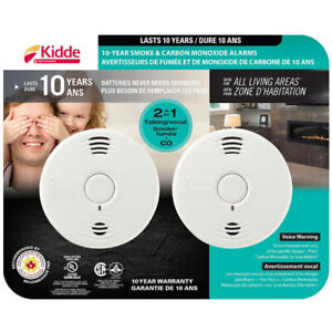 Kidde 10-Year Battery Operated Talking Smoke and Carbon Monoxide