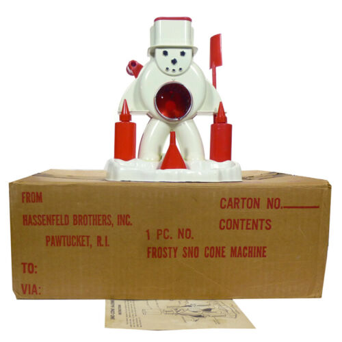 1960s Frosty Snowman SNO-CONE MACHINE in MAILER BOX Baby Boomer Christmas HASBRO