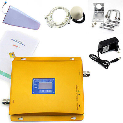 GSM 900MHz & DCS1800MHz Dual band Cell Phone Signal Repeater Booster Amplifier Dual Band Gsm 900 1800