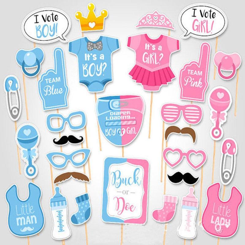 Baby Shower Photo Booth Spiele Requisiten Party Dekoration Werkzeuge