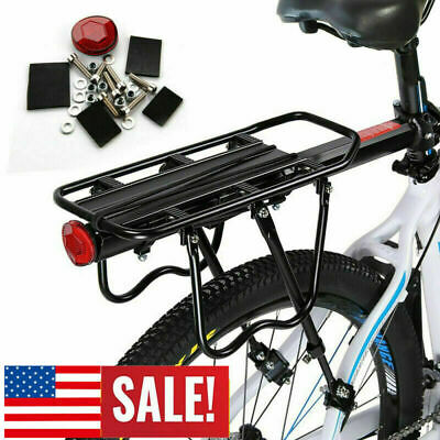 Hot Bike Rear Pannier Rack Connector Carry Carrier Seatpost Bicycle Adapter AL