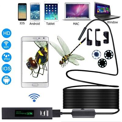 WIFI Endoscope Wireless Borescope 720/1080P Inspection Camera For Android iPhone