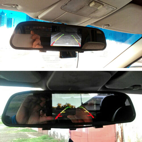 Wired 170° CCD Car Reverse Parking Camera With 4.3 LCD Rearview Mirror Monitor