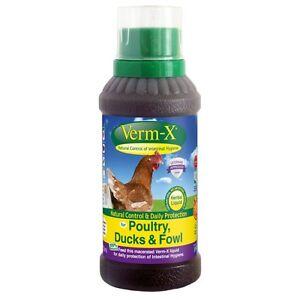 Verm-X Liquid Chicken Wormer / Intestinal Hygiene 250ml VermX Poultry Worming