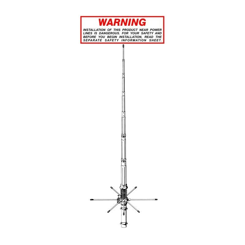 SIRIO 827 - Tunable Base Station Antenna 26.4-28.4 MHz