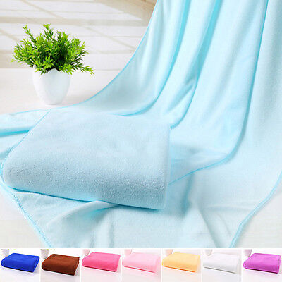 (Adults Bathing Towels Absorbent Microfiber Drying Towel Wrap Washcloth 70*140cm)