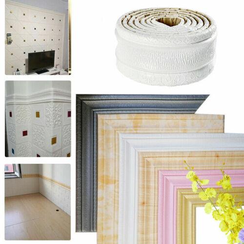 7.5ft 3D Wall Paper Borders Waterproof Self-adhesive Wall Sticker Home Decor DIY