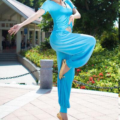 C818 Bauchtanz Kostüm mit 2 Teile Oberteil Top + Hose  Belly Dance Yoga ()
