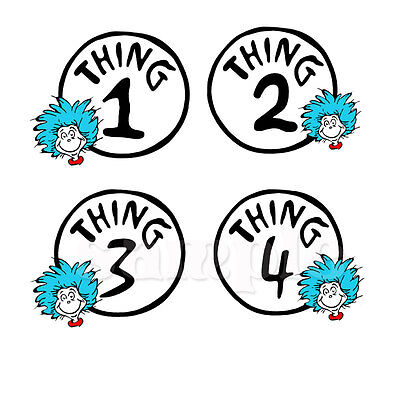 THING 1 THING 2 IRON ON TRANSFER