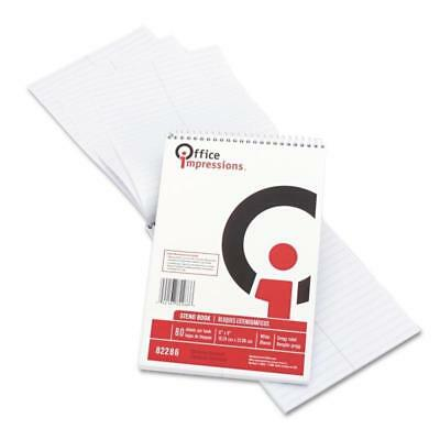 Pack Of 12 Office Impressions 82869 Wirebound Steno Book White 80 Sheets 6 X 9
