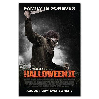 P218 Halloween 2 Movie Horror A Rob Zombie Film 24x36'' Art Silk Poster Wall](Rob Zombie Halloween 2 Poster)