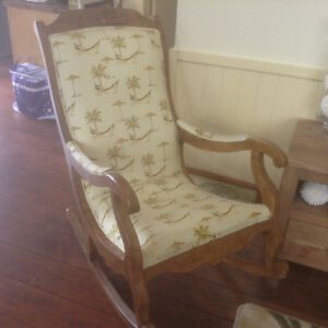 Antique replica rocking chair