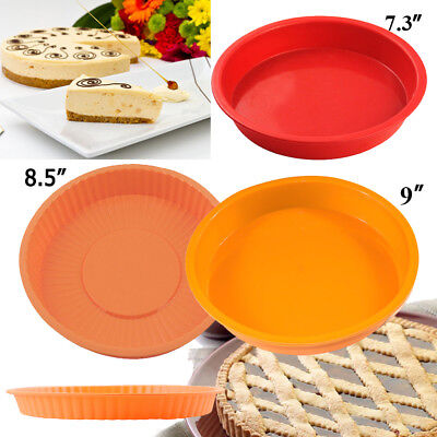 Round Silicone Non-stick Cake Pizza Bread Pan Mold Bakeware Baking Tray Mould