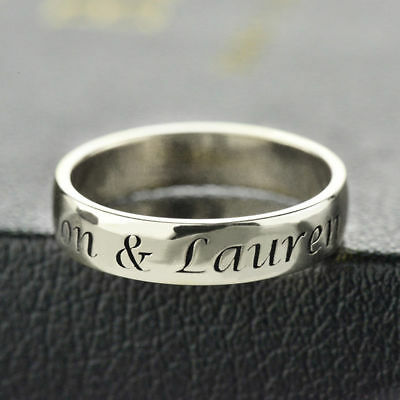 Personalized Sterling Silver Engraved Name/Message Hand Stamped Ring