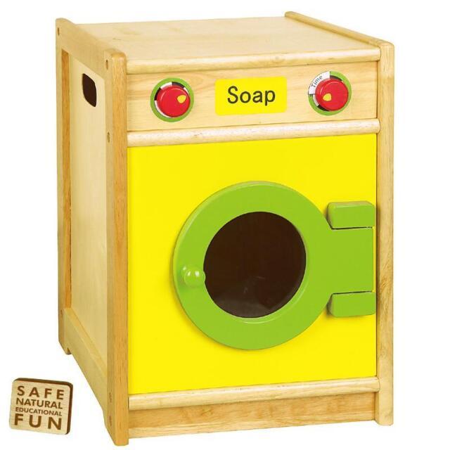 Kids Childrens Role Play Wooden Frame Washing Machine Kitchen ...