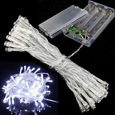 Battery Power Mini 10/20 LEDs Kühles Weiß Weihnachtsschnur-feenhafte Licht Kits ()