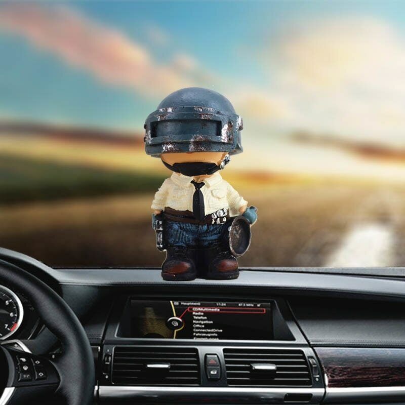 PUBG Car Dashboard Toy creative cartoon surrounding games de