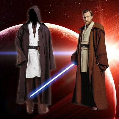 Star Wars Revenge of the Sith Obi Kenobi Wan Jedi Suit Halloween Cosplay Costume