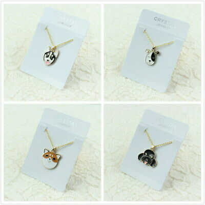 Lover Gold Chain Cute Enamel Husky Poodle Dog Pendant Necklace Gift New Jewelry  ()