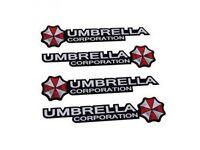 3D UMBRELLA CORPORATION EMBLEM AUTOAUFKLEBER STICKER RESIDENT EVIL ECKIG CROFT