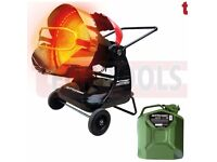 JEFFERSON JEFHTRAD090VA INFRARED 90 2-STEP HEATER + JERRY CAN