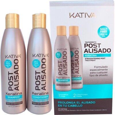 Kativa Keratina Tratamiento Post Alisado champú 250 ml + acondicionador 250 ml