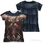 Wonder Woman Cap Sleeve Solid Tops for Women