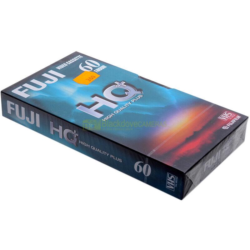 Fuji 60 HQ Videocassetta VHS High Quality Plus 1 ora, nuova sigillata. Vergine