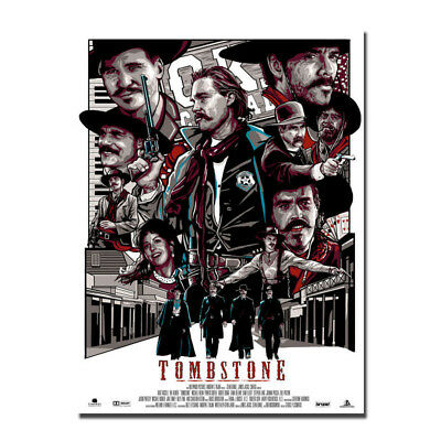 Tombstone Movie Vintage Art Silk Poster Prints 12x18 24x36 inch Home Wall Decor](Tombstone Decoration)