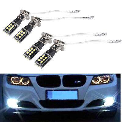 4PCS Super Bright White H3 15W High Power For Car Fog Driving DRL LED Light Bulb