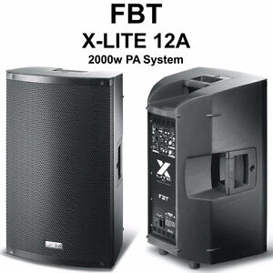 NEW PAIR ACTIVE FBT X-LITE 12a POWERED SPEAKER DEMO PROCESSED