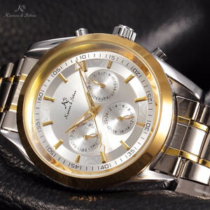 Brand New KS Gold Case Date Day Automatic Mechanical for Xmas Gi