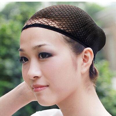 Black Unisex Stretchable Elastic Hair Net Snood Mesh Wig Cap Cosplay&Fashion YL