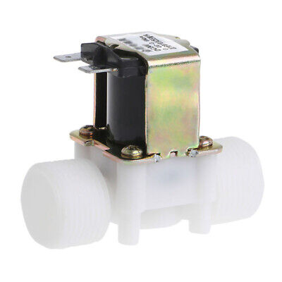 24v 34 Nc Plastic Electric Solenoid Valve Magnetic Water Air Normally Closed