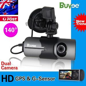Dual Car Camera GPS logger Dash HD DVR Video Vehicle Camera Recorder Crash Cam A