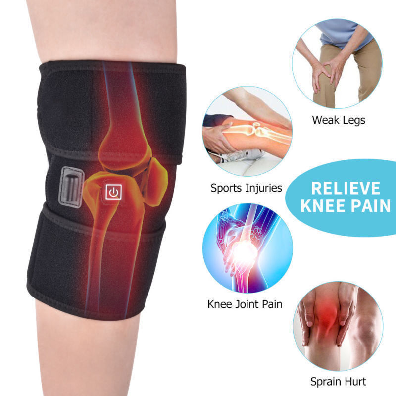 Heated Knee Brace Wrap Heating Pad Therapy For Knee