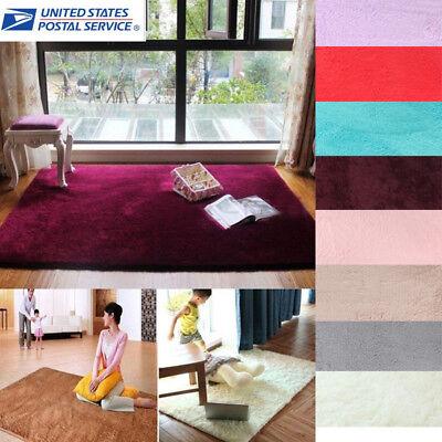 Shaggy Fluffy Rugs Anti-Skid Area Rug Dining Room Carpet Hom