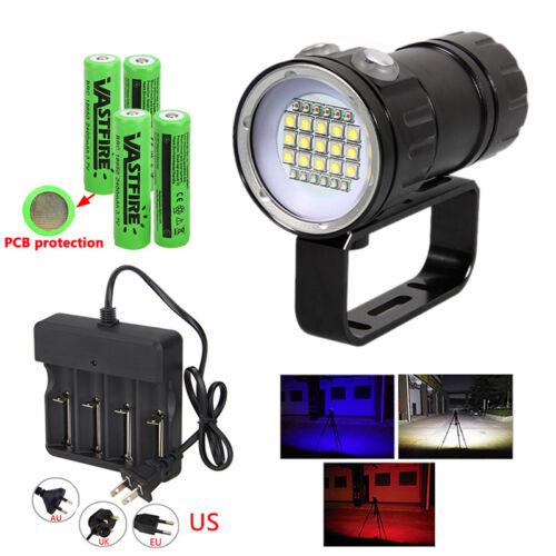 Unterwasser 18000LM LED Fotografie Video Camp Taschenlampe Tauchlampe bis 500m
