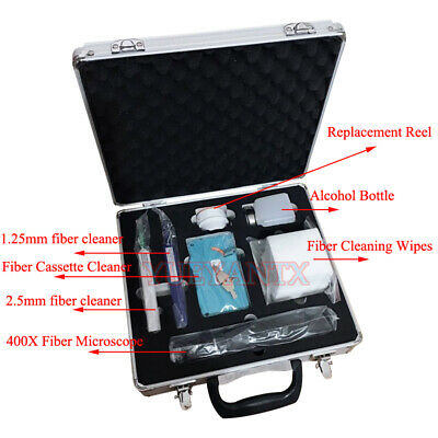 Fiber Optic Cleaning Kit For Cleaning Inspection 400x Microscope Fiber Cleaner