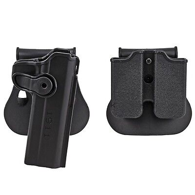 Tactical Colt 1911 M1911 RH Pistol Paddle Holster Right Hand Magazine Holster for sale  Shipping to Canada