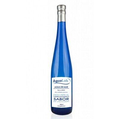 Agua de mar botella vídrio cobalto - AGUALAB OFICIAL