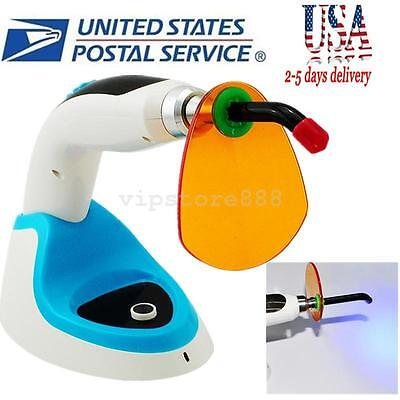 Usa 10w Wireless Cordless Led Dental Curing Light Lamp 2000mw Whitening Blue